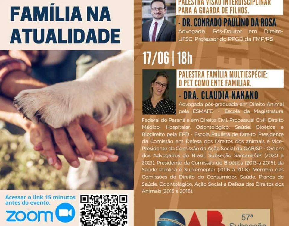 I Webinário de Direito de Família na Atualidade